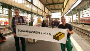 Fröhlicher Start in Stuttgart Hbf mit dem IC über Frankfurt und Düsseldorf nach Norden.